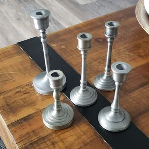 5 New hearth and hand candle holders
